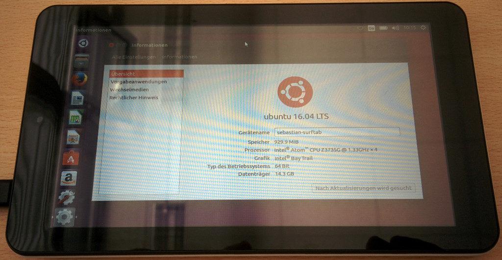 Trekstore Surftab mit Ubuntu 16.04